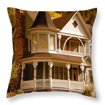 Autumn House Throw Pillow by David Lee Thompson