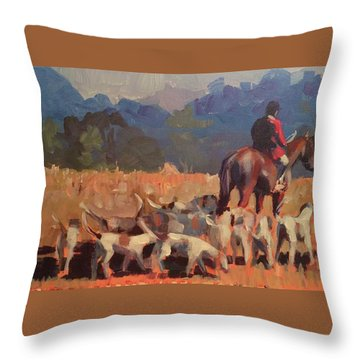 Autumn Hunt Crew Throw Pillow