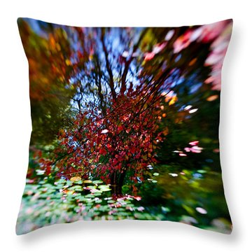 Autumn Impressions 2 Throw Pillow by Venetta Archer