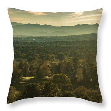 Throw Pillow featuring the photograph Autumn In Ashville, Nc by Richard Goldman