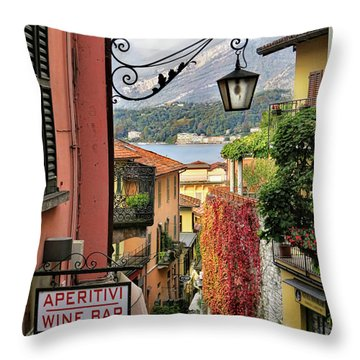 Autumn In Bellagio Throw Pillow by Jennie Breeze