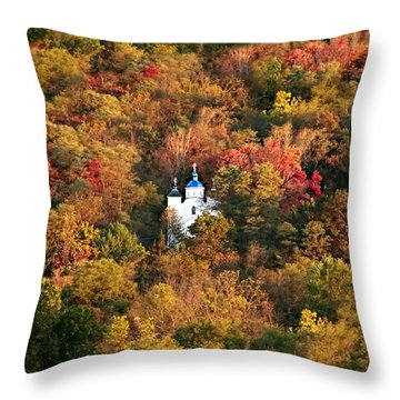 Autumn In Centralia Throw Pillow