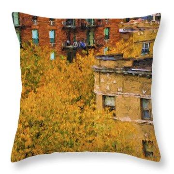 Autumn In Chicago Throw Pillow