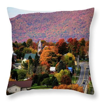 Autumn In Danville Vermont Throw Pillow by Sherman Perry