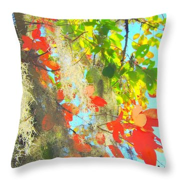 Autumn In Dixie  Throw Pillow