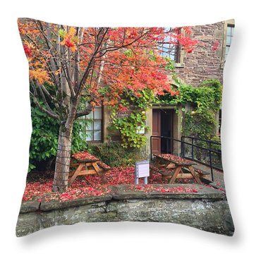 Autumn In Dunblane Throw Pillow by RKAB Works