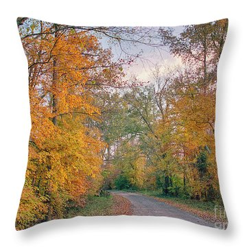 Throw Pillow featuring the photograph Autumn In East Texas by Charles McKelroy