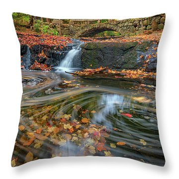 Throw Pillow featuring the photograph Autumn In Hallowell by Rick Berk