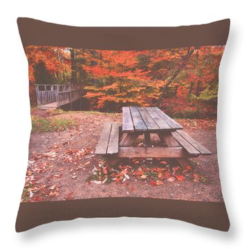 Autumn In High Bridge Throw Pillow