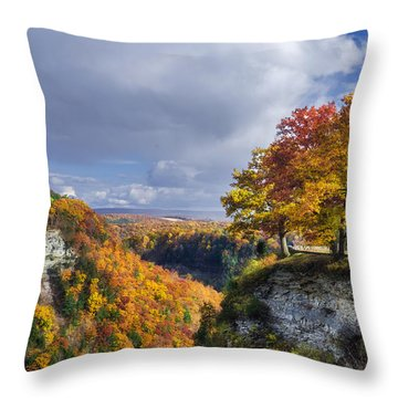 Autumn In Letchworth Throw Pillow