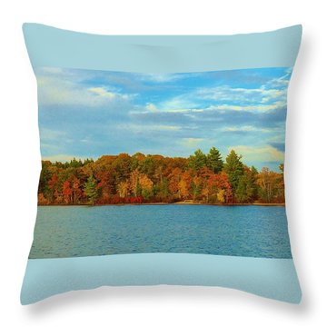 Autumn In Maine Throw Pillow