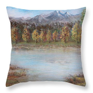 Autumn In Maule Throw Pillow