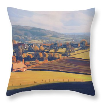 Autumn In Mechelen Throw Pillow