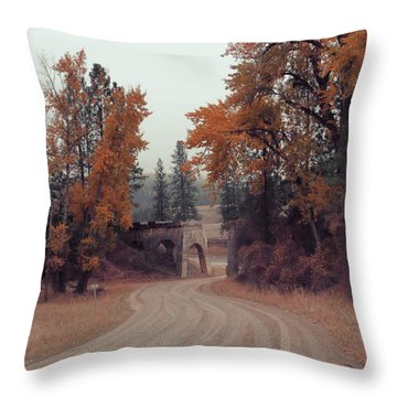 Autumn In Montana Throw Pillow