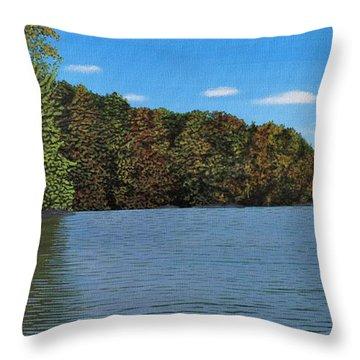 Autumn In Muskoka Throw Pillow