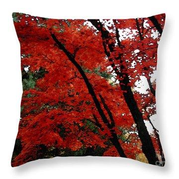 Autumn In New England Throw Pillow by Melissa A Benson