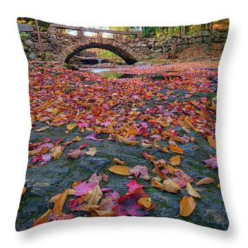 Autumn In New England Throw Pillow by Rick Berk