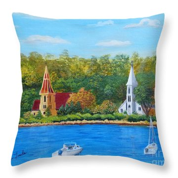 Autumn In Nova Scotia Throw Pillow