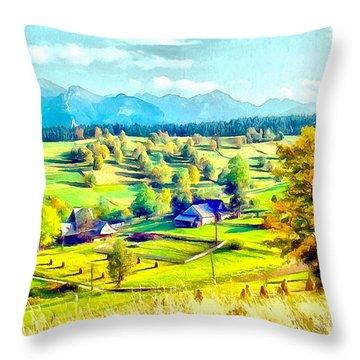 Autumn In Poland Throw Pillow by Maciek Froncisz
