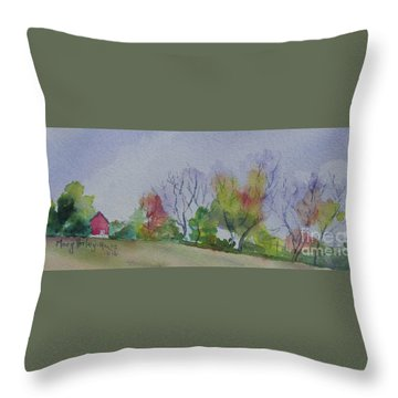 Autumn In Rural Ohio Throw Pillow