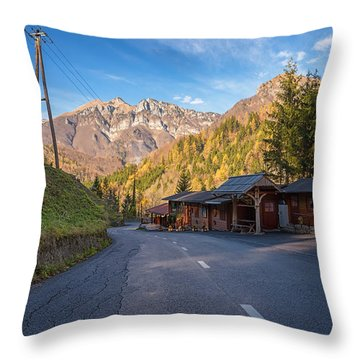 Autumn In Slovenia Throw Pillow