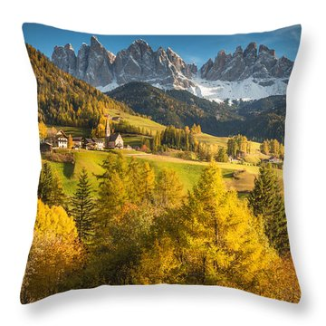 Autumn In The Alps Throw Pillow