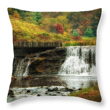 Throw Pillow featuring the photograph Autumn In The Blue Ridge Mountains by Ola Allen