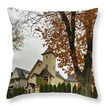 Autumn In The City 11 Throw Pillow