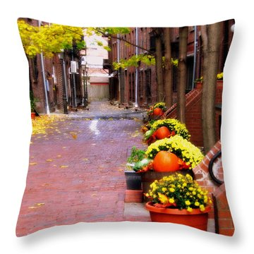 Autumn In The North End Throw Pillow