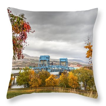 Autumn In The Park Throw Pillow by Brad Stinson