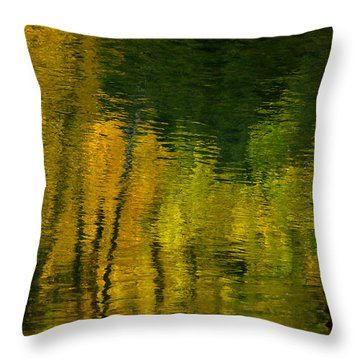 Autumn In Truckee Throw Pillow by Donna Blackhall