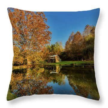Autumn In West Virginia Throw Pillow by L O C