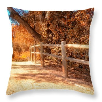 Autumn In Yellow Throw Pillow