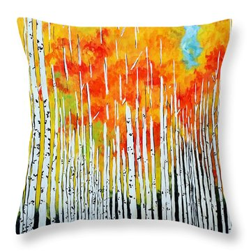 Autumn Throw Pillow by Jackie Carpenter
