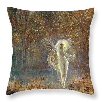 Autumn Throw Pillow by John Atkinson Grimshaw