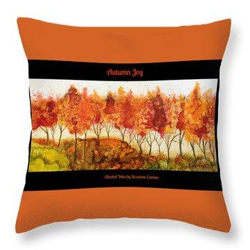 Autumn Joy Throw Pillow