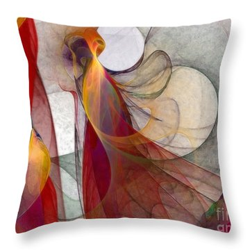 Autumn Throw Pillow by Karin Kuhlmann