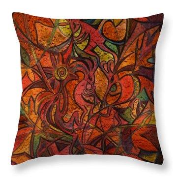 Autumn Kokopelli Throw Pillow
