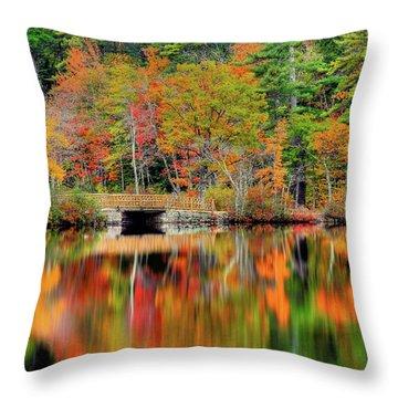 Autumn Lake Chocorua Throw Pillow