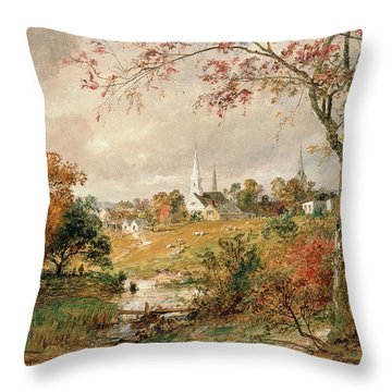 Autumn Landscape Throw Pillow by Jasper Francis Cropsey