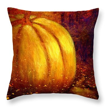 Autumn Landscape Painting Throw Pillow by Annie Zeno