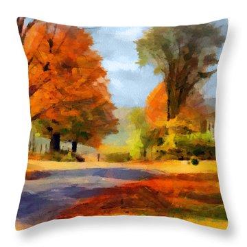 Autumn Landscape Throw Pillow by Sergey Lukashin