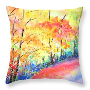 Autumn Lane Iv Throw Pillow by Lizzy Forrester