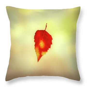 Autumn Leaf Throw Pillow by Bob Orsillo