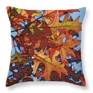 Autumn Leaves 17 - Variation  2 Throw Pillow by Jean Bernard Roussilhe