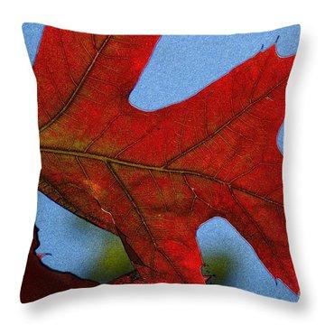 Autumn Leaves 18 Throw Pillow by Jean Bernard Roussilhe