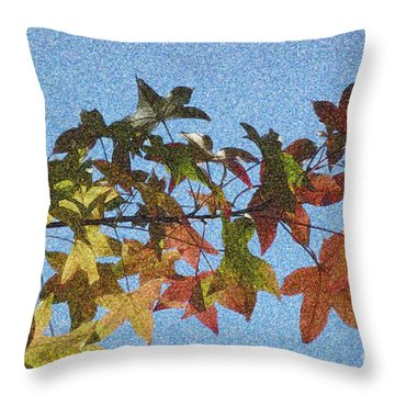 Throw Pillow featuring the photograph Autumn Leaves 3 by Jean Bernard Roussilhe