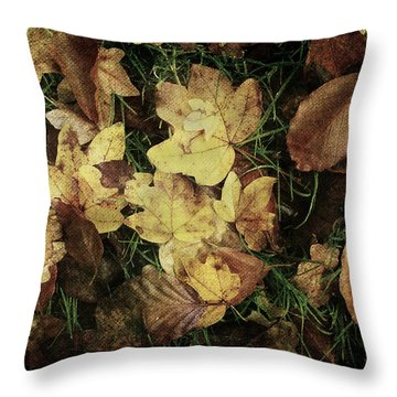 Autumn Leaves Are Falling Down... Throw Pillow