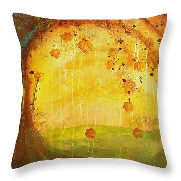 Autumn Leaves - Tree Series Throw Pillow