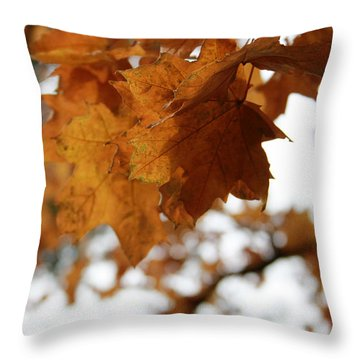 Autumn Leaves- By Linda Woods Throw Pillow